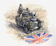 Iraq Union Jack Land Rover.