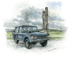 Sept. Range Rover Classic on Castle Hill Huddersfield.