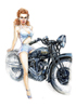 August, Maureen with her Rudge Ulster. Also available as A4 Print.