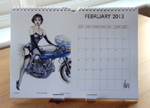 Louise Limb Classic Pin-Up Calendar 2013 Month sample.