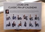 Louise Limb Classic Pin-Up Calendar 2013 Back cover.
