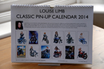 Louise Limb Classic Pin-Up Calendar 2014 Back cover.