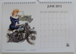 Louise Limb Classic Pin-Up Calendar 2015 Month sample.