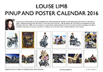 Louise Limb Pin-Up & Poster Calendar 2016 Back cover.