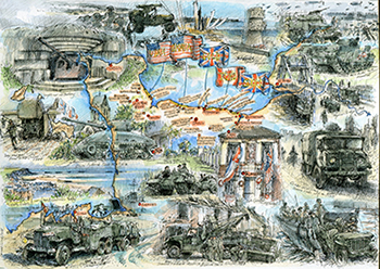 D Day map print